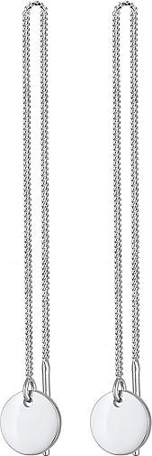 Elli Ohrringe Ohrhänger Plättchen Kreis Durchzieher 925 Silber