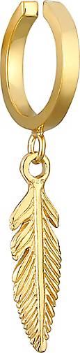925er Silber Ohrstecker Feder vergoldet K685