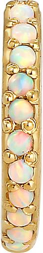 Elli Ohrringe Single Earcuff Synthetischer Opal 925 Silber