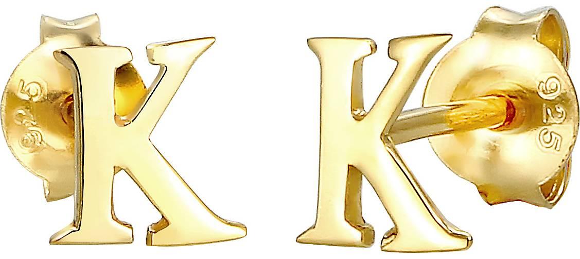 Elli Ohrringe Stecker Buchstabe K Initialen Minimal 925 Silber