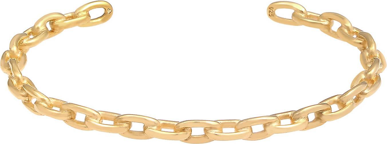 Elli PREMIUM Armband Armreif Bangle Ketten-Look Kombinierbar 925 Silber