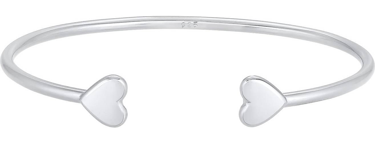 Elli PREMIUM Armband Armreif Offen Herz Liebe Love Valentin 925 Silber