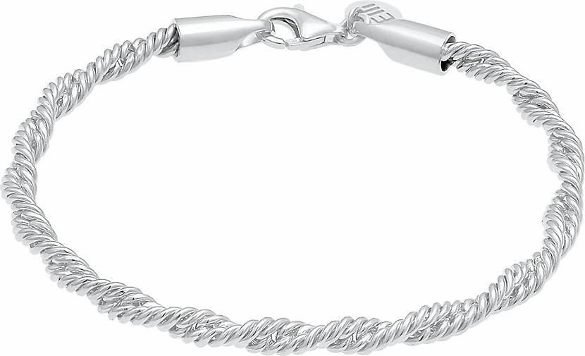 Elli PREMIUM Armband Kordel Gedreht Elegant Basic 925 Silber