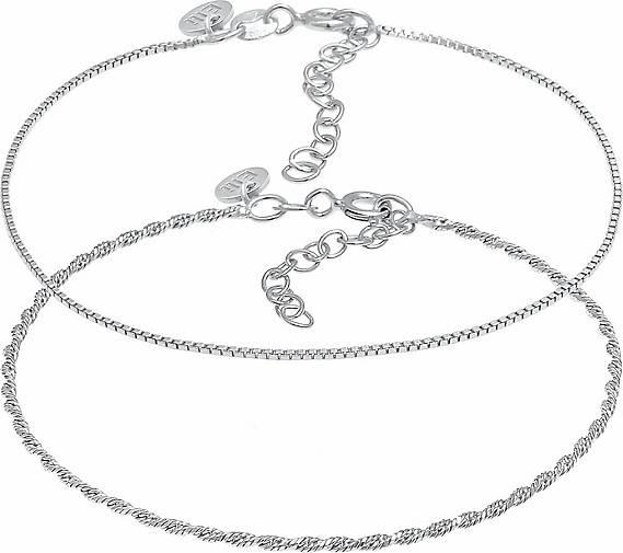 Elli PREMIUM Armband Kordelkette Gedreht Venezianer 2er Set 925 Silber
