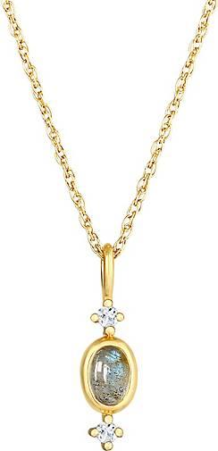 Elli PREMIUM Halskette Gedreht Anhänger Labradorit Topas 925 Silber