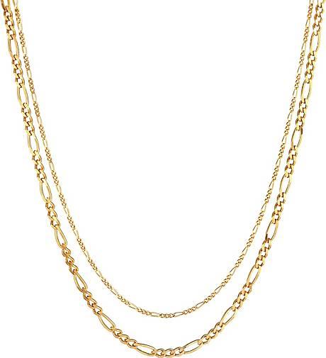 Elli PREMIUM Halskette Layerkette Figaro Glieder Basic 925 Silber