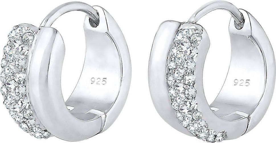 Elli PREMIUM Ohrringe Creolen Kristalle Sparkling 925 Silber