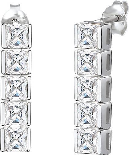Elli PREMIUM Ohrringe Ohrhänger Zirkonia Kristalle Funkelnd 925 Silber