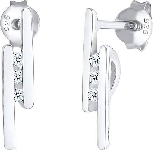 Elli PREMIUM Ohrringe Stecker Elegant Stab Diamant 0.05 ct. 925 Silber