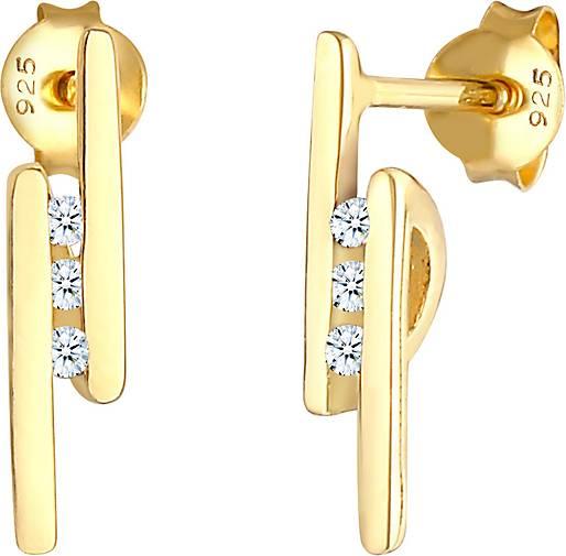 Elli PREMIUM Ohrringe Stecker Elegant Stab Diamant 0.09 ct. 925 Silber