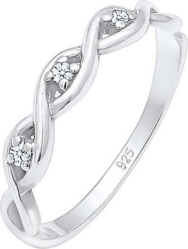 Elli PREMIUM Ring Knoten Unendlich Diamant (0.045 ct.) 925er Silber
