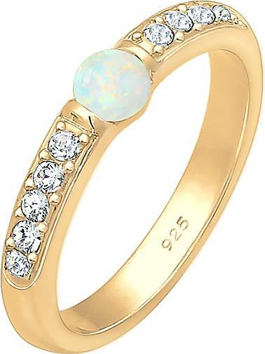 Elli PREMIUM Ring Opal Swarovski® Kristalle 925er Sterling Silber