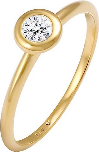 Elli PREMIUM Ring Swarovski® Created Diamond (0.17 ct.) 585 Gelbgold