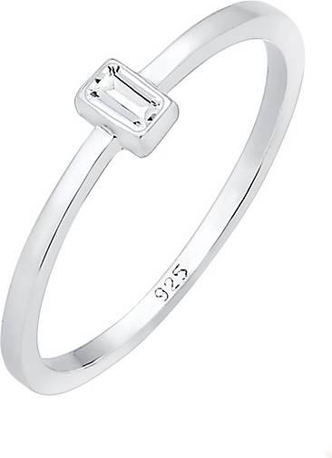 Elli PREMIUM Ring Verlobung Liebe Vintage Topas Stein 925 Silber