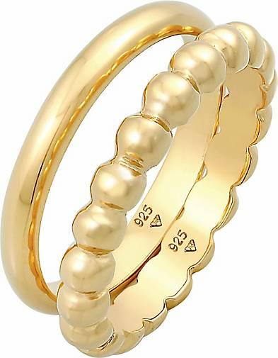 Elli Ring Bandring 2er Set Basic Kugel Design 925 Silber