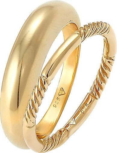 Elli Ring Bandring Gedreht Basic 2er Set 925 Silber