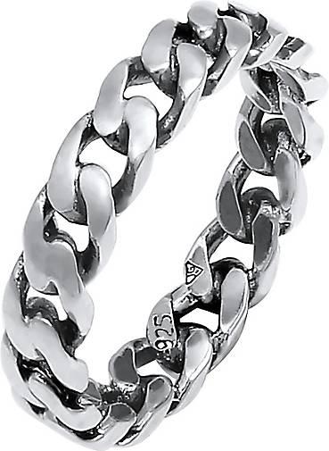 Elli Ring Bandring Knoten Unendlich Twisted 925 Silber