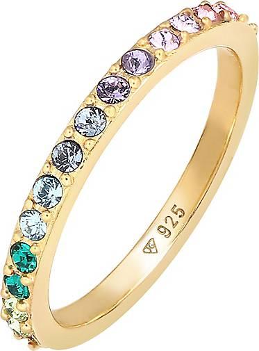 Elli Ring Bandring Kristall Multi-Colour Pastell 925 Silber