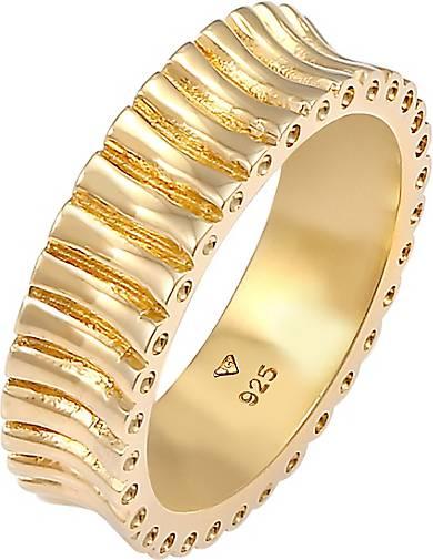Elli Ring Bandring Relief Struktur Trend Cool 925 Silber