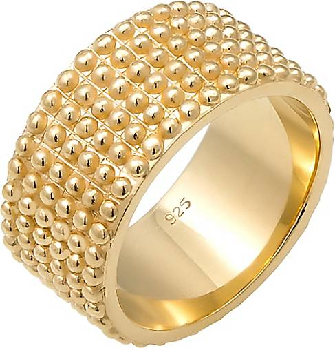 Elli Ring Basic Bandring Dots Trend Cool 925 Silber