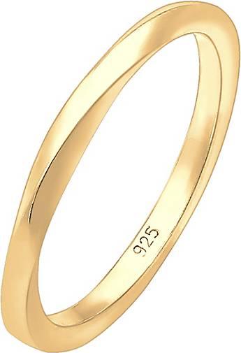 Elli Ring Basic Bandring Gedreht Klassisch Trend 925 Silber