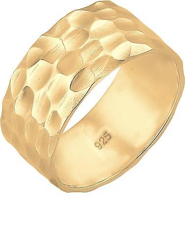Elli Ring Basic Bandring Gehämmert Trend Cool 925 Silber