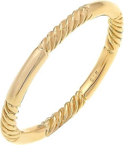 Elli Ring Basic Stacking Bandring Modern Gedreht 925 Silber