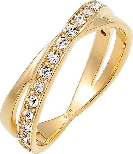 Elli Ring Edel Wickelring Kristalle 925 Silber
