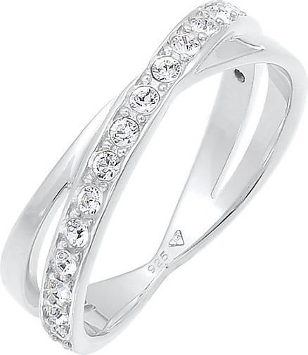Elli Ring Edel Wickelring Swarovski® Kristalle 925 Silber