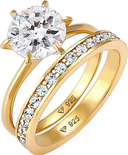 Elli Ring Eternity Kristalle Set 925 Silber