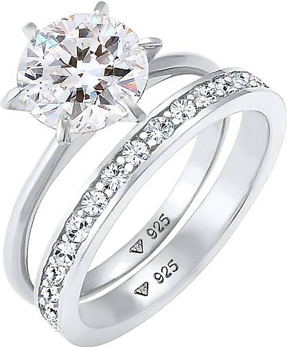 Elli Ring Eternity Kristalle Set 925 Silber