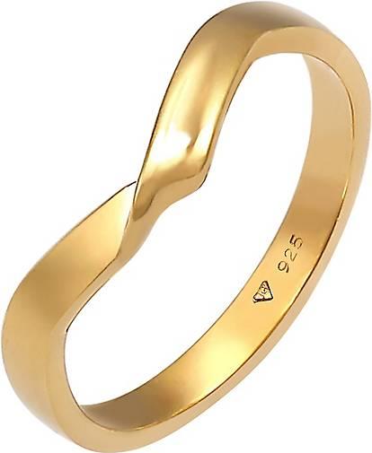 Elli Ring Gedreht Wickelring V Form Trend Basic 925er Silber