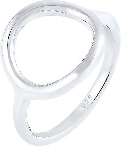 Elli Ring Kreis Rund Geo Statement 925 Sterling Silber