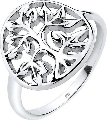 Elli Ring Lebensbaum Floral 925er Sterling Silber