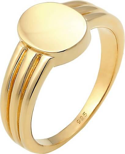 Elli Ring Siegelring Basic Blogger Geo 925 Sterling Silber
