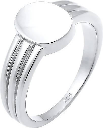 Elli Ring Siegelring Basic Blogger Geo 925 Sterling Silber
