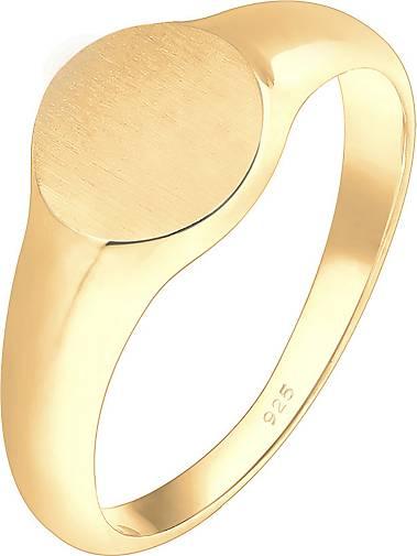 Elli Ring Siegelring Royal Matt Geo Basic Trend 925 Silber