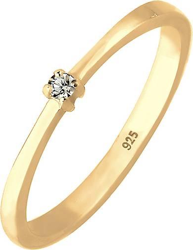 Elli Ring Solitär Klassisch Swarovski® Kristalle 925 Silber