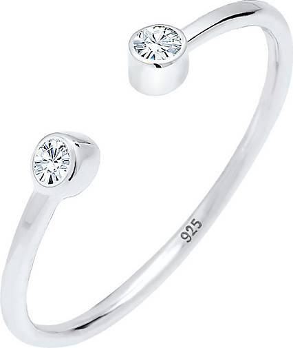 Elli Ring Solitär Statement Swarovski® Kristalle 925 Silber