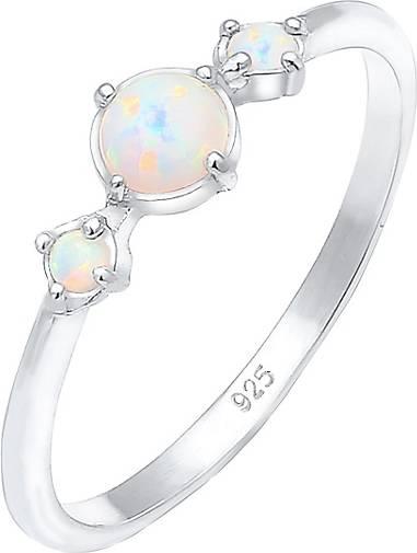 Elli Ring Trend Bandring Trio Geo Vintage Opale 925 Silber