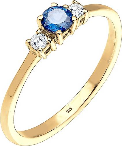 Elli Ring Verlobungsring Zirkonia 925 Sterling Silber