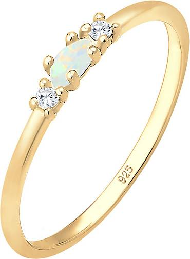 Elli Ring Vintage Opal Zirkonia 925 Sterling Silber