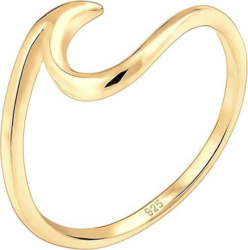 Elli Ring Wellen Wave Strand Trend 925 Sterling Silber