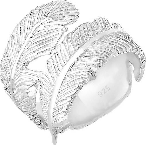 Elli Ring Wickelring Feder Boho 925 Sterling Silber
