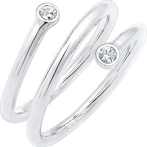 Elli Ring Wickelring Geo Swarovski® Kristalle 925er Silber