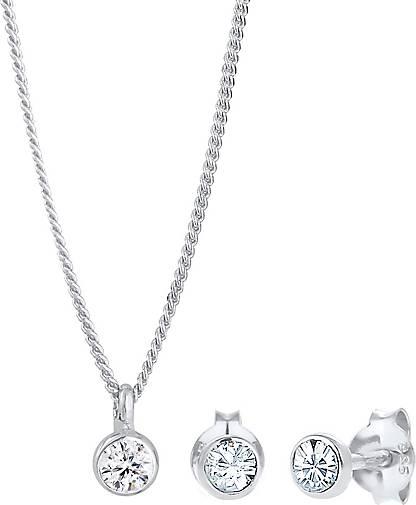 Elli Schmuckset Basic Elegant Swarovski® Kristalle 925 Silber