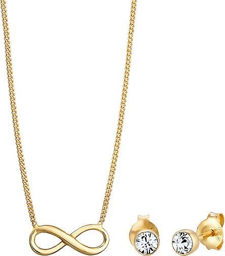 Elli Schmuckset Infinity Symbol Swarovski® Kristalle 925 Silber