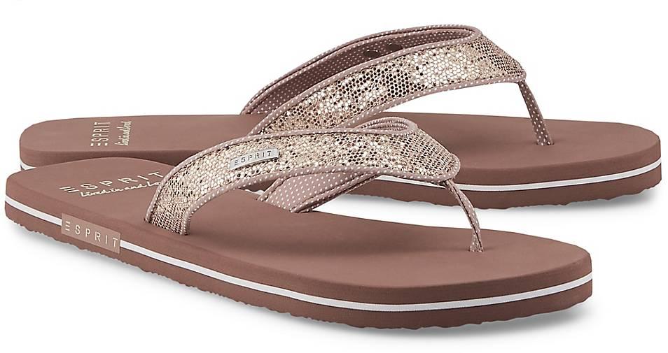 sandal Beach Beige Zehentrenner In Glitter Kaufen Esprit 5j4ARL