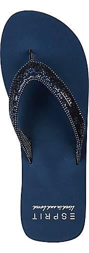 Blau Damen Beach dunkel Glitter sandal 8npwqC