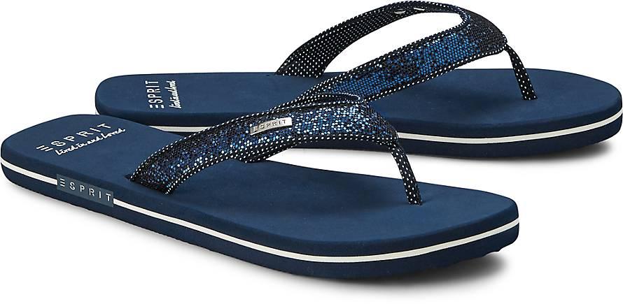 esprit beach sandal glitter badelatschen blau dunkel g rtz. Black Bedroom Furniture Sets. Home Design Ideas